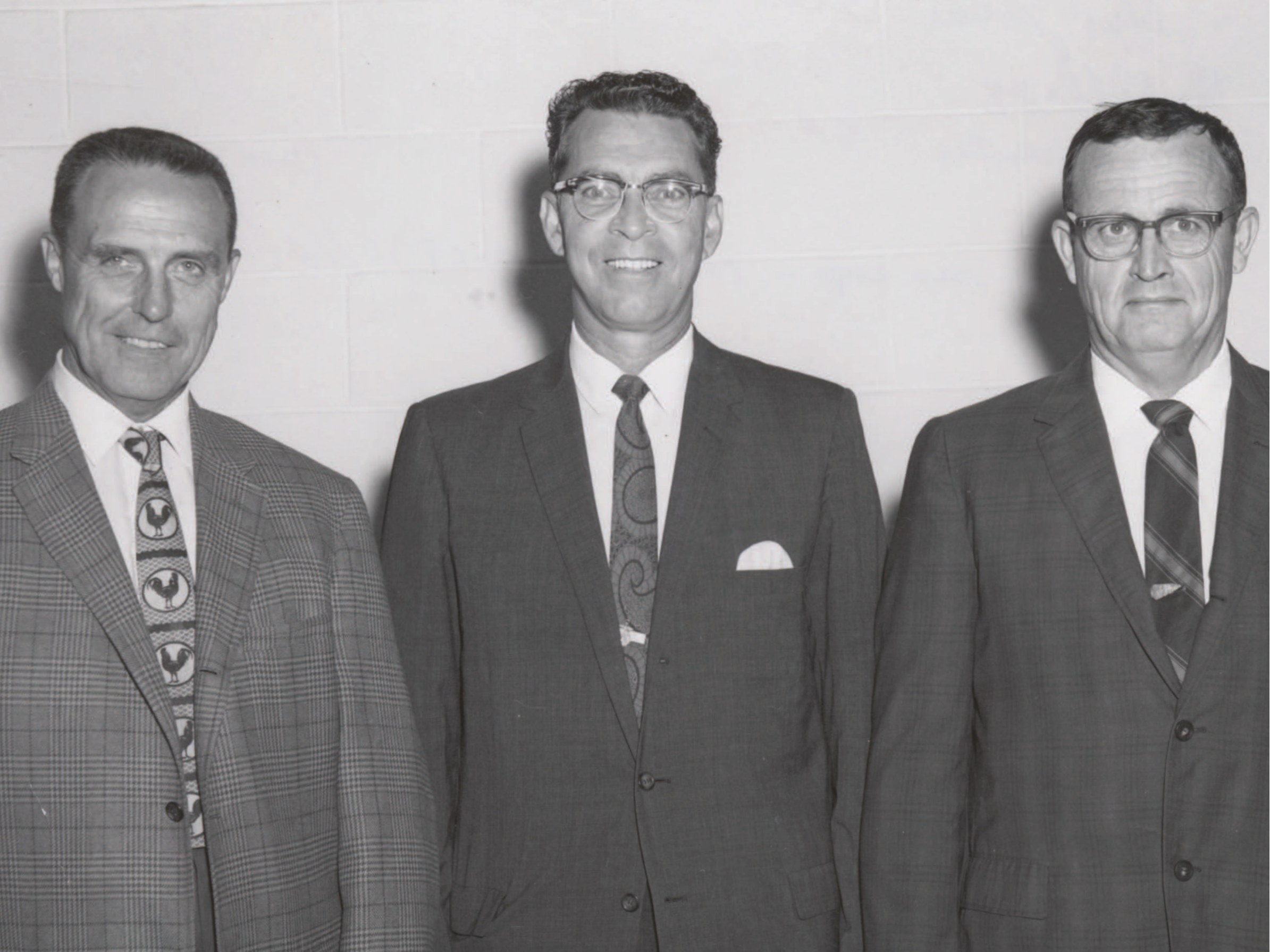 Three managers of the first Select Sires cooperatives. (left to right) Wilbur Goeke, NIBCO, Dick Kellogg, COBA and Marshall Carpenter, KABA