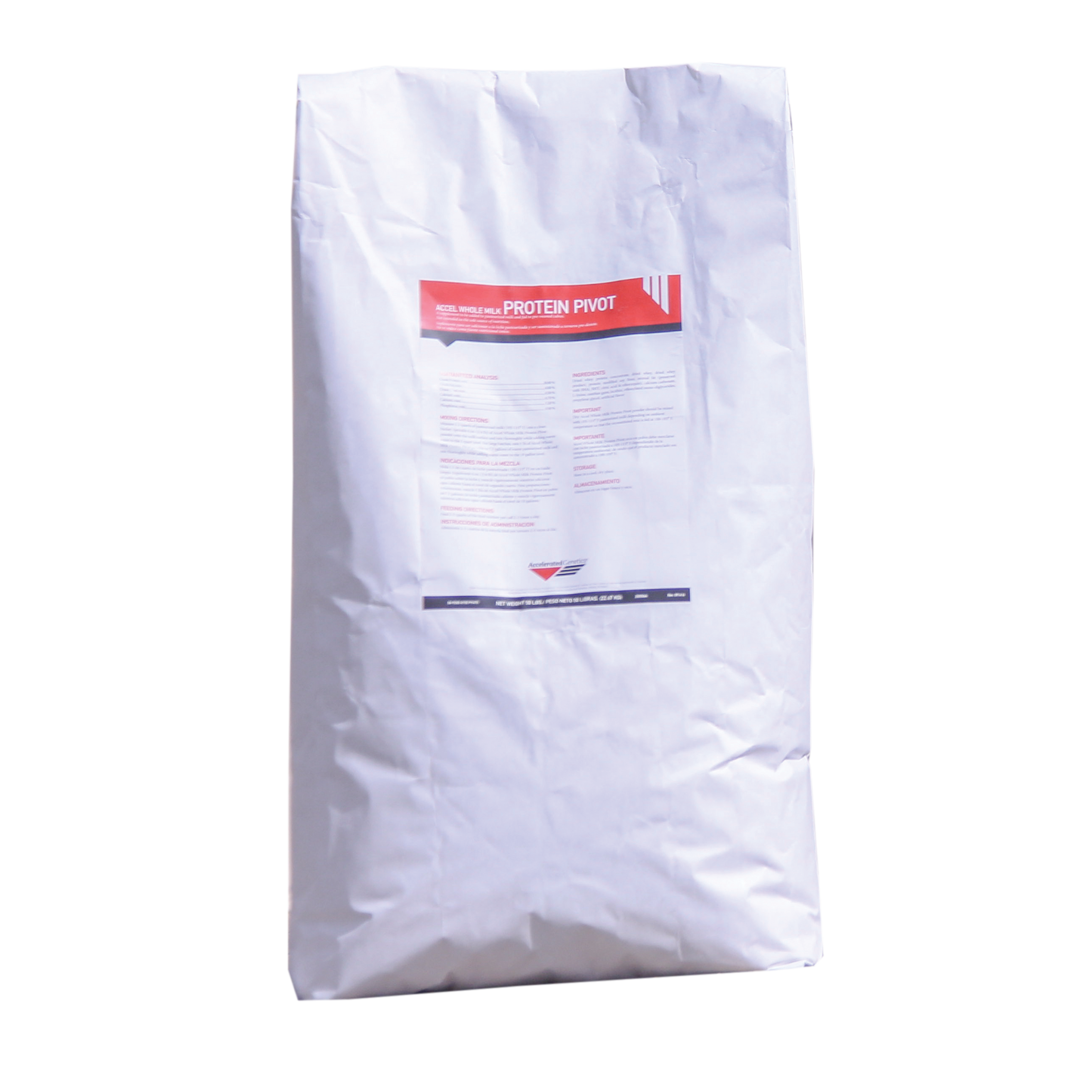 bag of accel whole milk protein pivot